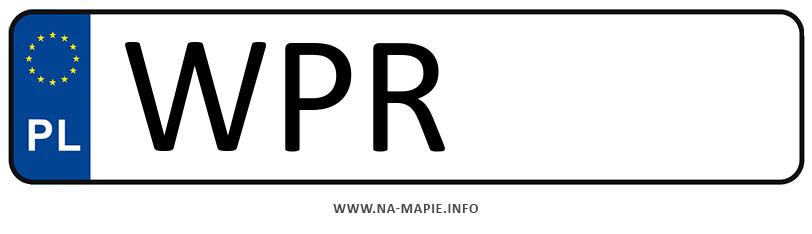 Rejestracja WPR, miasto Pruszków