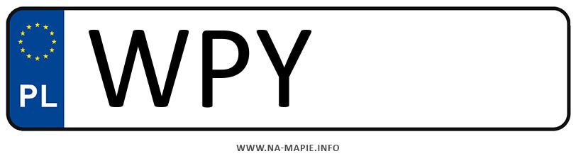 Rejestracja WPY, miasto Przysucha