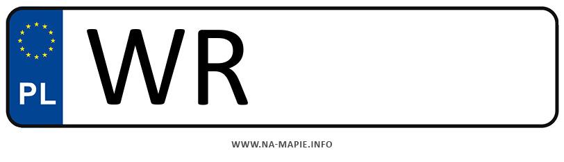 Rejestracja WR, miasto Radom