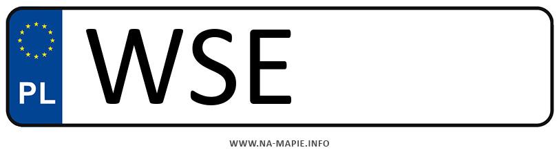 Rejestracja WSE, miasto Sierpc
