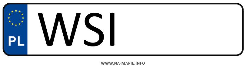 Rejestracja WSI, miasto Siedlce powiat