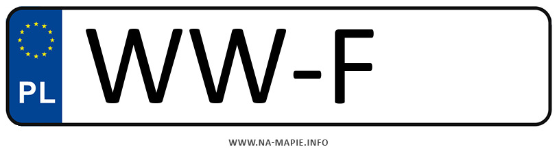 Rejestracja WW-F, miasto Warszawa-Wilanów