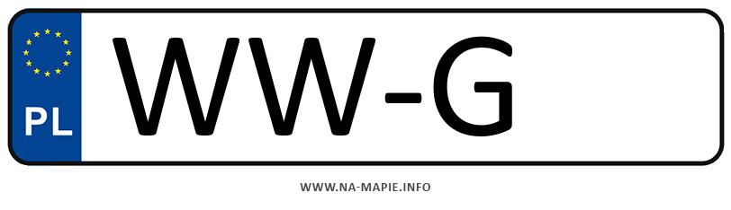 Rejestracja WW-G, miasto Warszawa-Wilanów