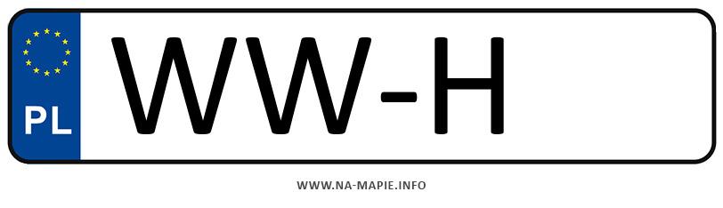 Rejestracja WW-H, miasto Warszawa-Wilanów