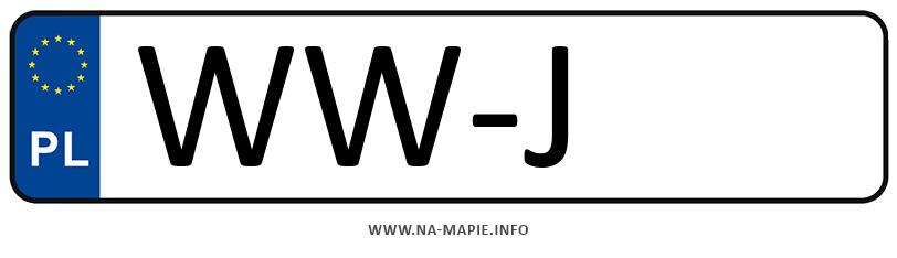 Rejestracja WW-J, miasto Warszawa-Wilanów