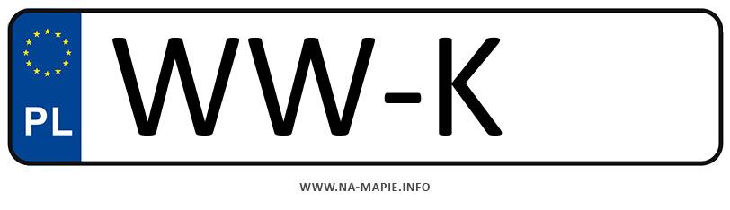Rejestracja WW-K, miasto Warszawa-Włochy