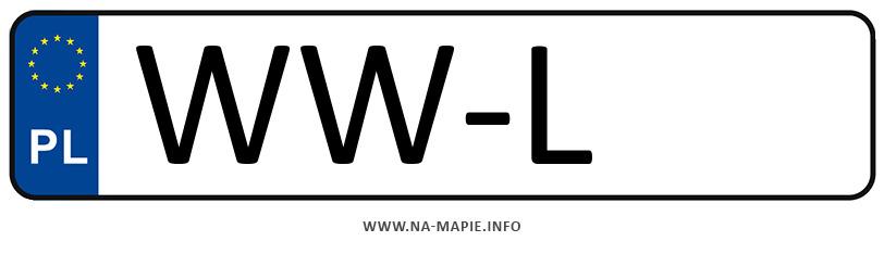 Rejestracja WW-L, miasto Warszawa-Włochy