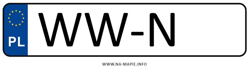 Rejestracja WW-N, miasto Warszawa-Włochy