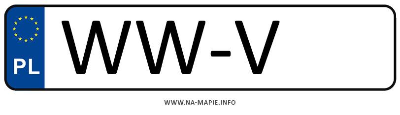 Rejestracja WW-V, miasto Warszawa-Włochy
