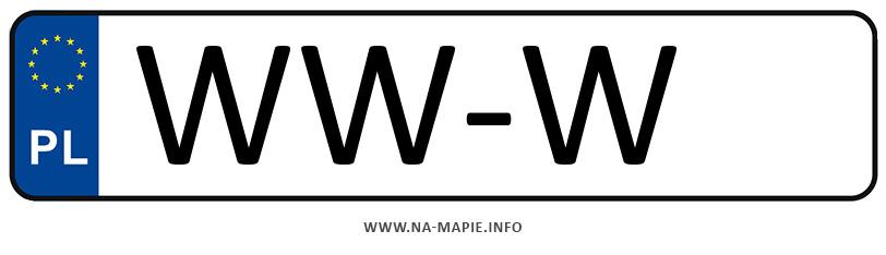 Rejestracja WW-W, miasto Warszawa-Wilanów