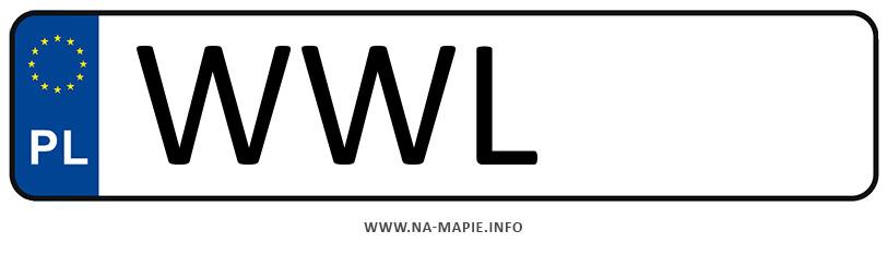 Rejestracja WWL, miasto Wołomin