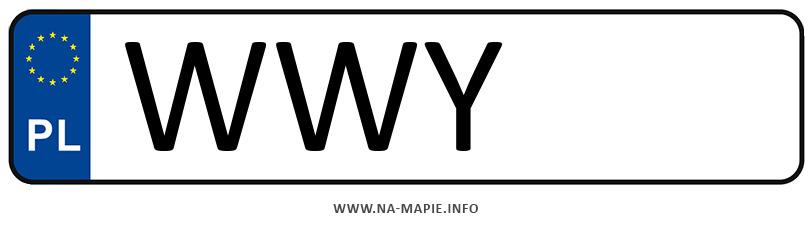 Rejestracja WWY, miasto Wyszków
