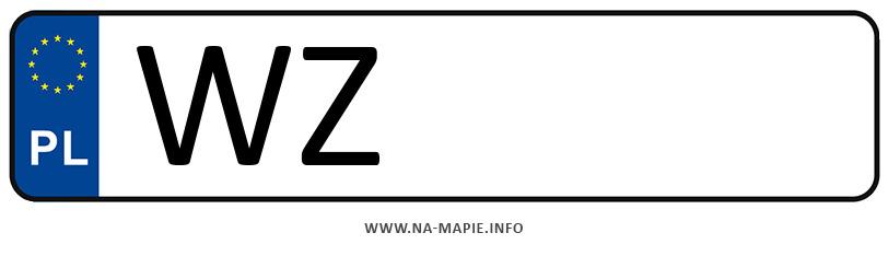 Rejestracja WZ, miasto Warszawa-Zachód