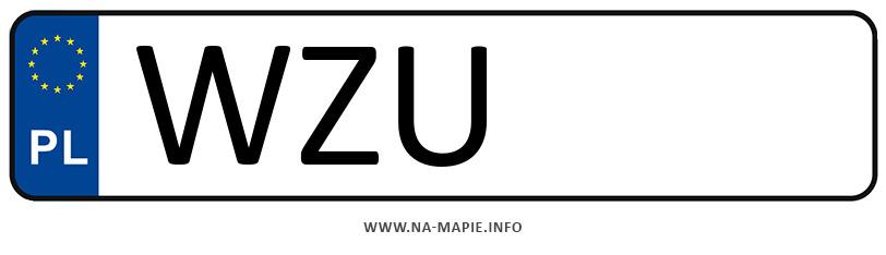 Rejestracja WZU, miasto Żuromin