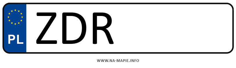 Rejestracja ZDR, miasto Drawsko