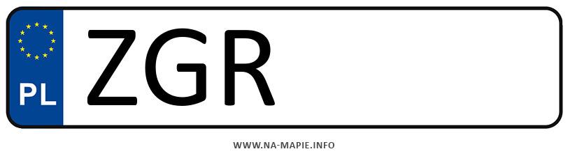 Rejestracja ZGR, miasto Gryfino