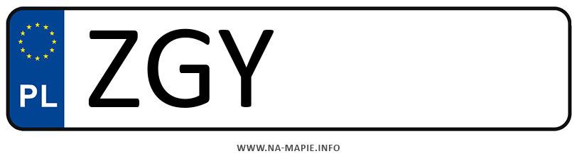 Rejestracja ZGY, miasto Gryfice