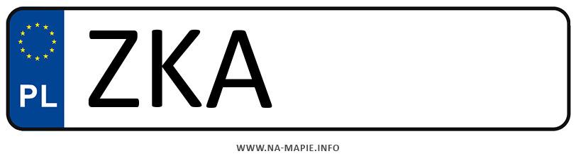 Rejestracja ZKA, miasto Kamień Pomorski