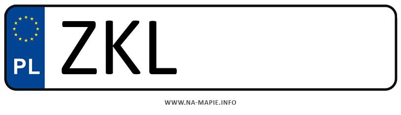 Rejestracja ZKL, miasto Kołobrzeg