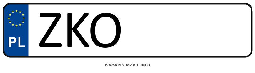 Rejestracja ZKO, miasto Koszalin powiat