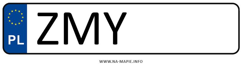 Rejestracja ZMY, miasto Myślibórz