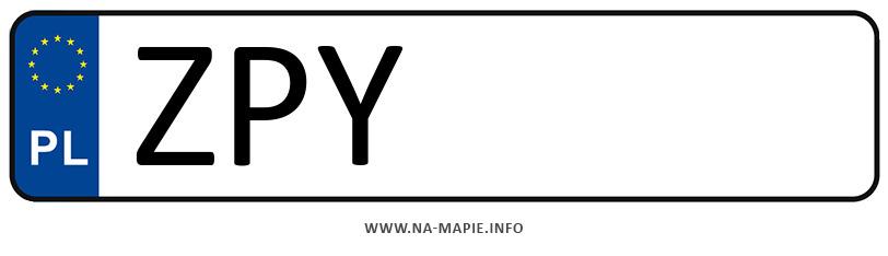 Rejestracja ZPY, miasto Pyrzyce