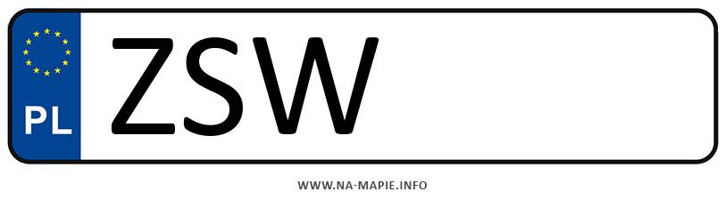 Rejestracja ZSW, miasto Świnoujście