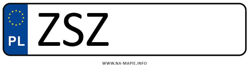 Rejestracja ZSZ, miasto Szczecinek