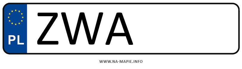 Rejestracja ZWA, miasto Wałcz
